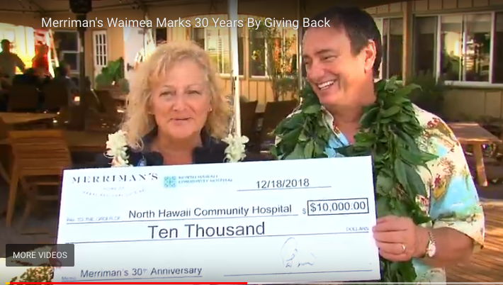 Merriman's Celebrates 30 Years in Waimea!